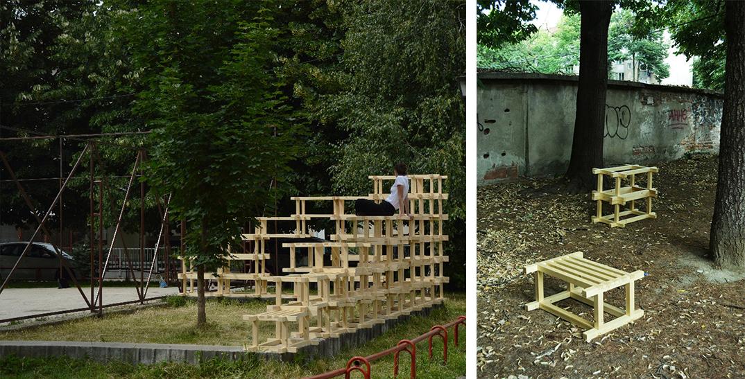Урбан Модулар, интервенции во јавен простор изведени во Тетово и Прилеп.